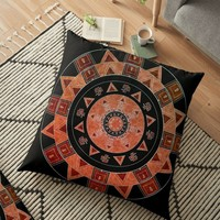 'Ethnic circle' Floor Pillow by VanGalt