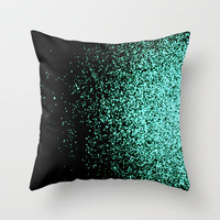 infinity in mint green Throw Pillow by Marianna Tankelevich