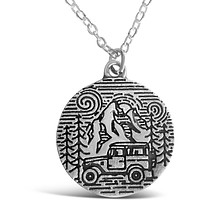 Camping In The Park Stamped, Camping Lifestyle Necklace