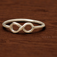 Infinity Symbol ring Sterling silver by Hoas on Etsy