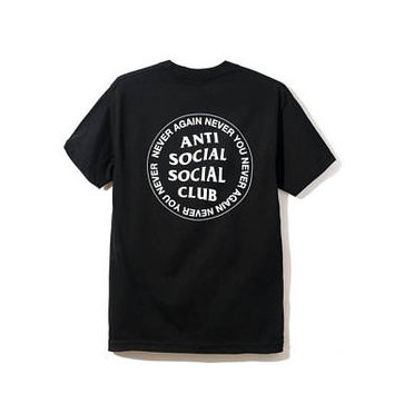 Anti Social Social Club Black T-Shirt ,ASSC,Kanye West -i feel like pablo-yeezy hoodie Anti Social Social Club assc