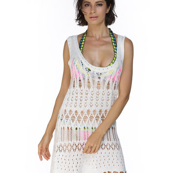 Fringed Beach Cover Up