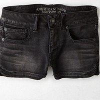 AEO Women's Denim Shortie (Washed Black)
