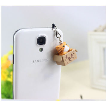 Cute Cartoon Cat Phone Dust Plug