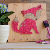 Pink Fox Key or Jewelry holder