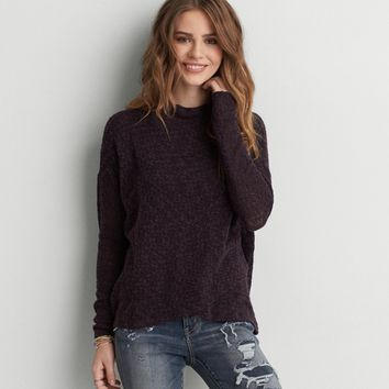 AEO CROSS FRONT PULLOVER SWEATER