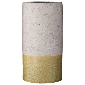 Threshold™ Spotted Ceramic Vase White and Gold 5in