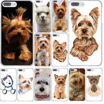 yorkshire terrier puppy dog Hard Phone Cover Case for iphone5 6 7 8 X