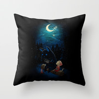 Camping 2 Throw Pillow by Freeminds