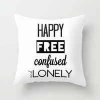 I'm Feeling 22 Throw Pillow by hayimfabulous | Society6
