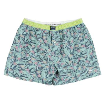 Hanover Flamingos Boxer in Sage & Pink by Southern Marsh