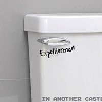 Expelliarmus Spell Sticker - Funny Harry Potter Decal for Toilet Trash Can Hamper Wall Sticker