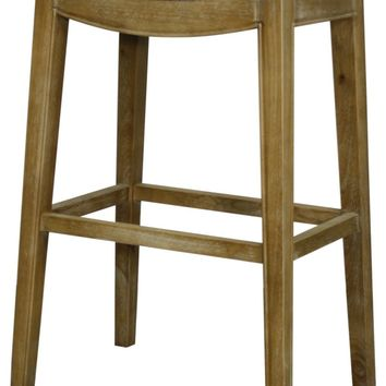 Elmo Bonded Leather Bar Stool Weathered Smoke Legs, Vintage Gray