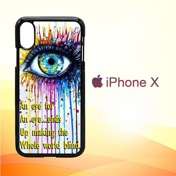 eye watercolor X2980 iPhone X Case