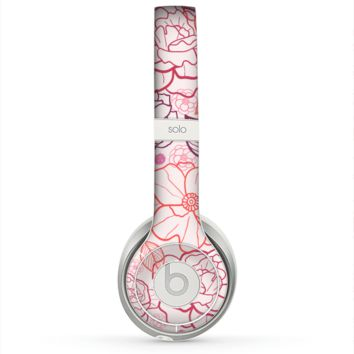 The Subtle Pink Floral Illustration Skin for the Beats by Dre Solo 2 Headphones