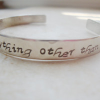 One Tree Hill inspired hand stamped and hammered silver bracelet cuff