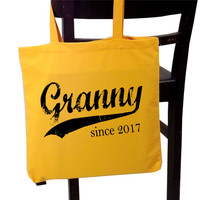 Granny since ANY year - personalized tote bag - Mother's Day gift - grandmother tote - grandma tote - new grandma gift