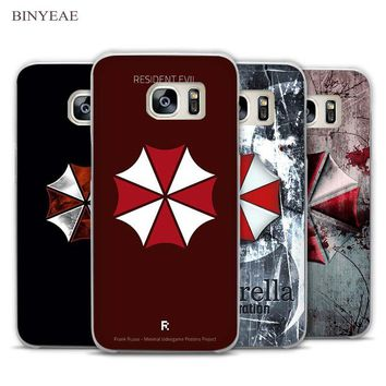 BINYEAE Resident Evil Umbrella logo Clear Phone Case Cover for Samsung Galaxy Note 2 3 4 5 7 S3 S4 S5 Mini S6 S7 S8 Edge Plus