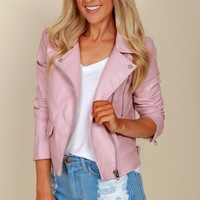 In The Coconut Moto Jacket Pink