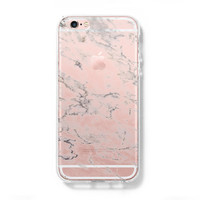 Marble iPhone 6s 6 Clear Case iPhone 6 plus Cover iPhone 5s 5 5c Transparent Case Galaxy S6 Edge S6 S5 Case - Acyc
