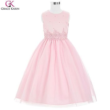 Ivory Pink Flower Girl Dresses For Wedding Grace Karin Pageant Communion Flower Girl Dresses For Little Girl Toddlers 8939