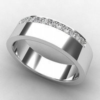 Titanium ring, diamond ring, men wedding band, mens titanium ring, titanium wedding band, commitment ring, men diamond ring