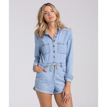 NEVER OVER IT DENIM COVERALL