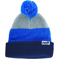 Neff Men's Snappy Navy Blue Beanie Grey