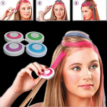 4pcs Huez Hair Chalk Powder Fashion Christmas DIY Temporary Wash-Out Fashion = 1946016836