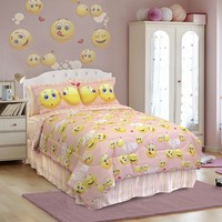 Emoji 4-pc. Comforter Set - Queen (Pink)