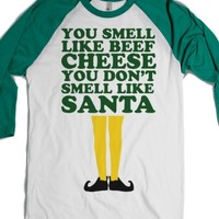White/Evergreen T-Shirt | Cute Christmas Movies Elf Shirts