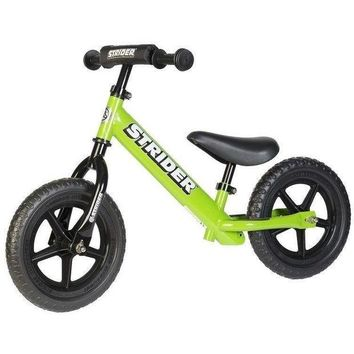 QIYIF strider 12 sport kids balance bike no pedal learn to ride pre bike green new