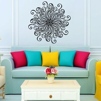Mandala Yoga Wall Decal Vinyl Sticker Wall Decor Home Interior Design Art Murals vk14