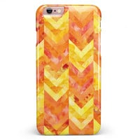 Yellow and Orange Watercolor Chevron Pattern iPhone 6/6s or 6/6s Plus Candy Shell Case