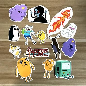 13pcs/lot Adventure time styla A Notebook refrigerator skateboard trolley case decals backpack Tables waterproof car sticker