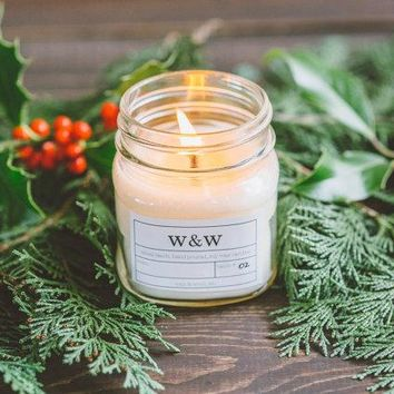 Tree Farm - 9oz Pure Soy Wax Candle Glass Jar