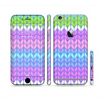 The Bright-Colored Knit Pattern Sectioned Skin Series for the Apple iPhone 6