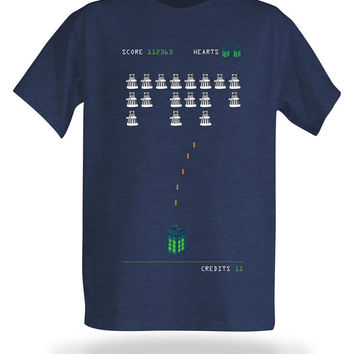 Doctor Who Dalek Invaders T-Shirt - Navy,