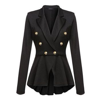 LMFG8W Fashion Brand Blazers Coat Black Red Women Slim Elegant Jacket Female Work Wear Casaco Feminino Woman Clothes Office Clothing