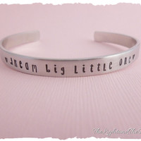Hand stamped cuff bracelet - Dream Big Little One - Sorority - Sisters