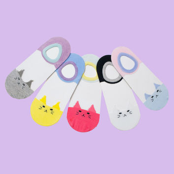 Krystal Kitty Sock Set [5 Set.]