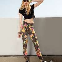 California Postcard Leggings | FOREVER 21 - 2047227632