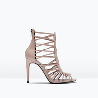 LEATHER HIGH HEEL SANDAL New