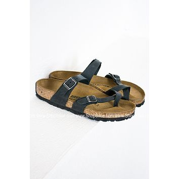 Mayari Leather Birkenstocks | Black
