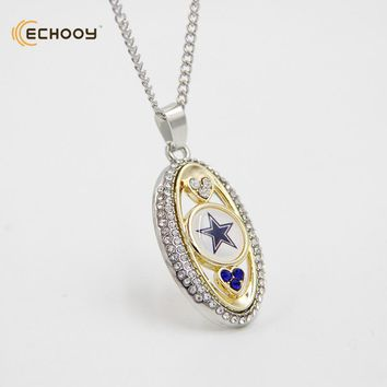 woman classic jewelry Personalized dallas cowboys Pendant Necklaces Custom football team logo necklace Bridesmaid Gift