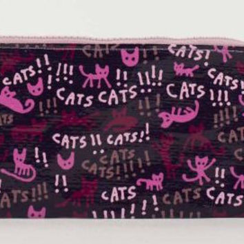 Cats! Pencil Case in Pink and Purple