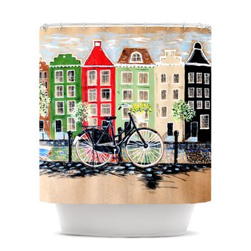 "Christen Treat ""Bicycle"" Shower Curtain"