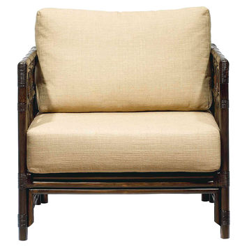Eloise Rattan Lounge Chair, Wheatberry, Accent & Occasional Chairs