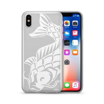 Henna Koi Fish - Clear TPU Case Cover Phone Case