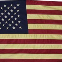 Tea Stained Ebroidered American Flag-2 sizes